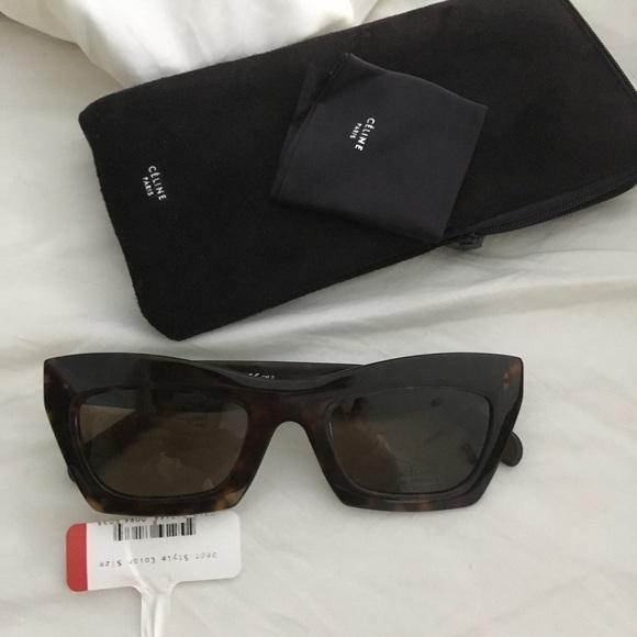 b20af89064d0 Celine dark tortoise Eva sunglasses 41399 s new